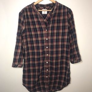 H & M Long Plaid Shirt